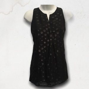 ADRIENNE VITTADINI Black Sleeveless Tank Top